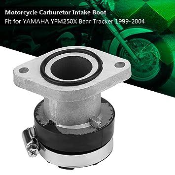 Qiilu Carburetor Intake Manifold Boot Joint for Yamaha Bear Tracker 250 1999-2004 Professional Motorcycle Carburetor Carb Intake Adapter