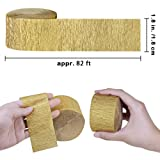432 Yards 16 Rolls 4 Colors Party Streamers Gold