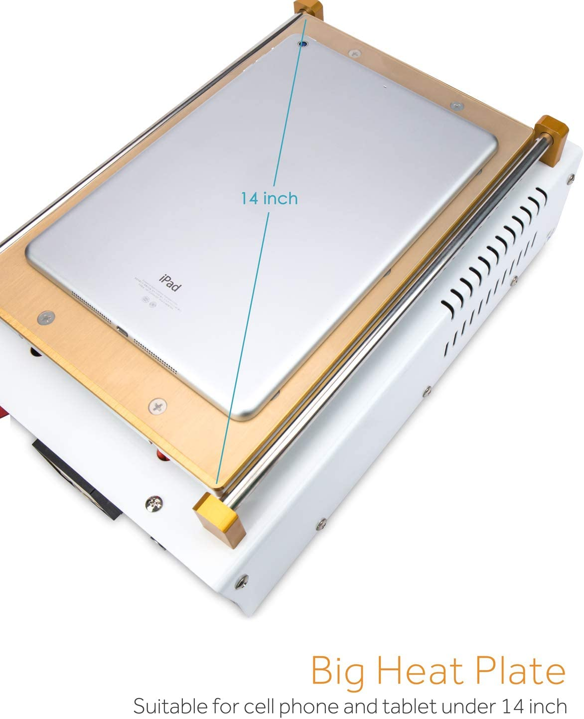 BAKU S1 S2 BK-968 110V 14 inch LCD Screen Separator Machine Touch Screen Digitizer Removal Cell Phone LCD Glass Plate Build-in Pump Vacuum Repair LCD Screen