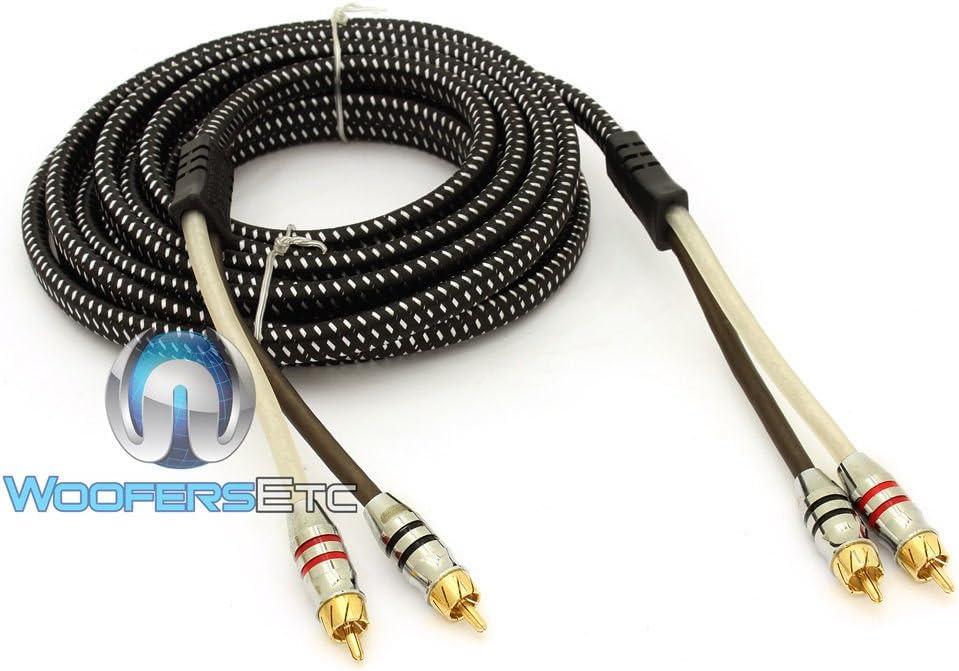 Sundown Audio 6 Ft Saz 2 Channel Solid 100/% OFC Copper Twisted RCA Wire
