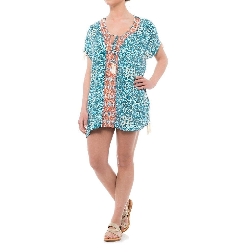 (バイオレットスカイ) Violet Sky レディース 水着ビーチウェア ビーチウェア Embroidered Cover-Up Short Sleeve [並行輸入品] B07CB4GRV7 L
