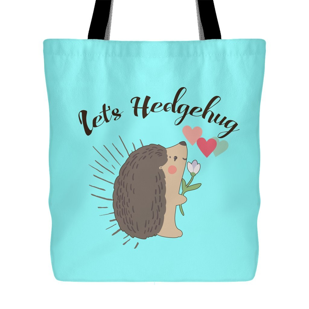 Valentine's Day Love Hedgehugs Tote Bag Pun Hedgehogs Gift Honeymoon Vacation