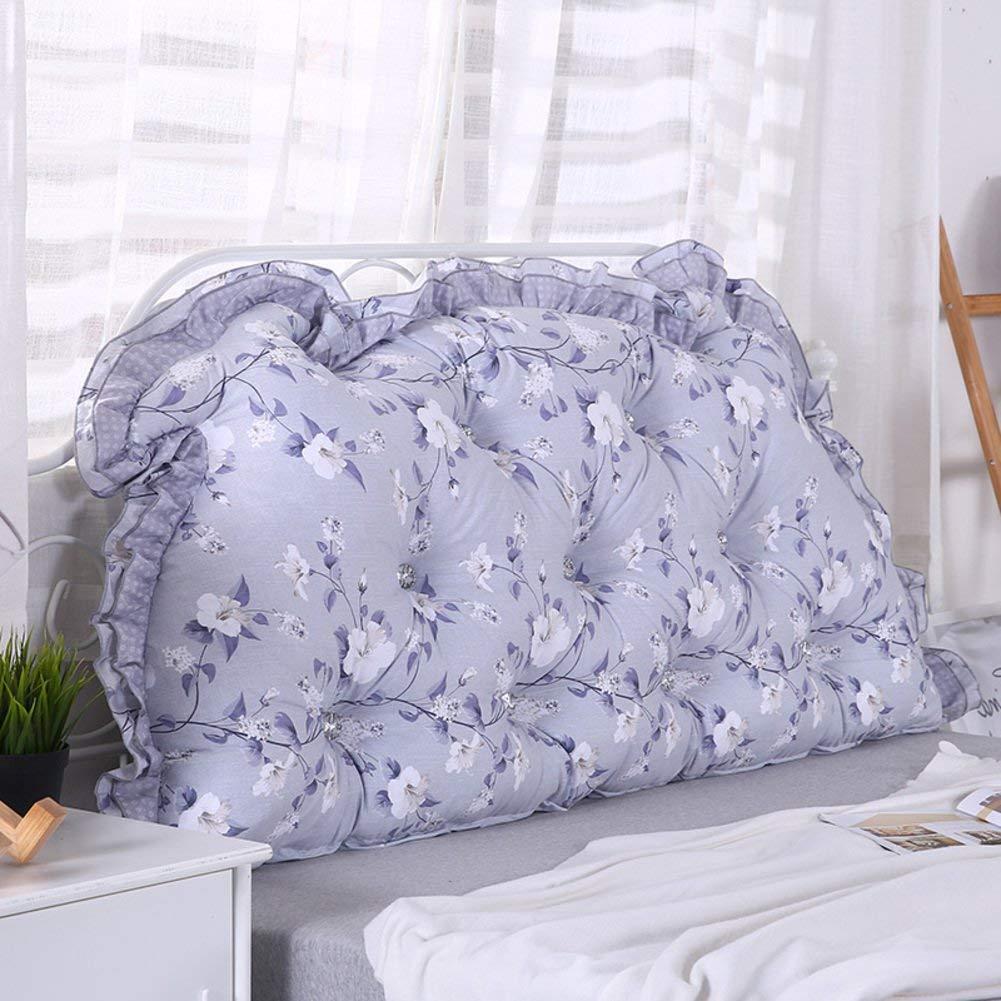 JIANHEADS ベッドサイドの読書枕背部クッション、ソファーマットクッション100%綿背もたれ位置決めサポート枕 (Color : Q, サイズ : 110x70x15cm(43x28x6inch)) B07RY5MP1V