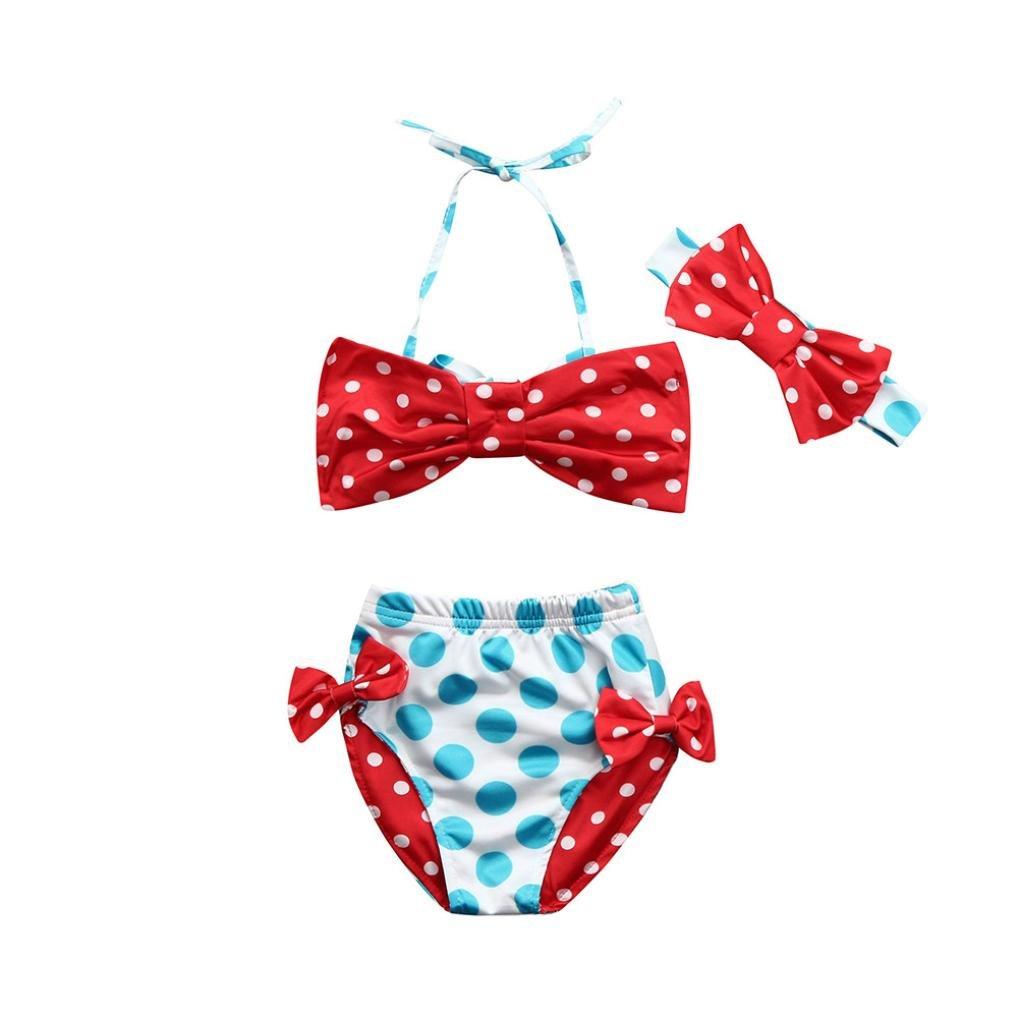 Bambina Costumi, Resplend Neonate bambine Dot stampa costume da bagno bowknot cinghie bikini set