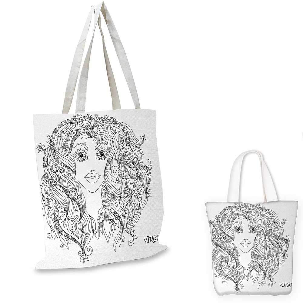 十二支 乙女神話の女性の肖像画 トライバルヘアスタイル 女性 VirgoWarm トープ ピーチ ホワイト 12