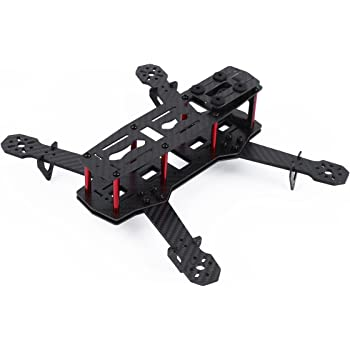 Amazon.com: YKS Upgraded DIY Glass Carbon Fiber Mini 250 Quadcopter ...