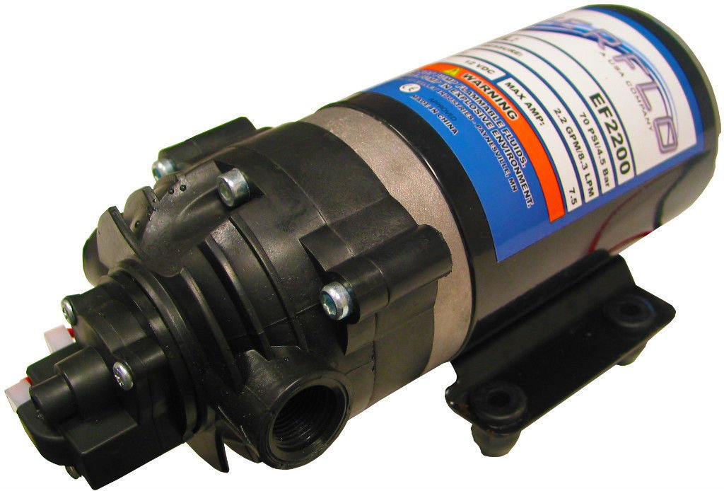 New 2.2 GPM 70 psi 12 Volt Diaphragm ON Demand WATER PUMP w/ Wire Power Harness by The ROP Shop
