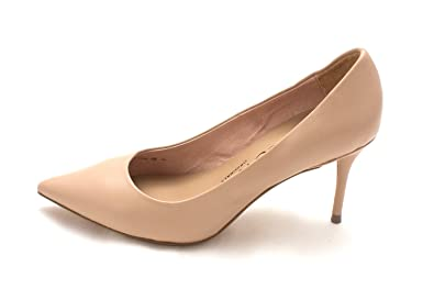 Nina Womens Damsel Leather Pointed Toe Classic Pumps Nude Nappa Size 5.5