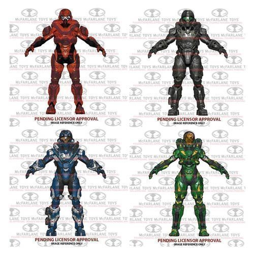 Halo 5: Guardians Series 2 Spartan Buck, Spartan Hermes, Spartan Helljumper, Spartan Athlon Action Figures Set Of 4 by Halo