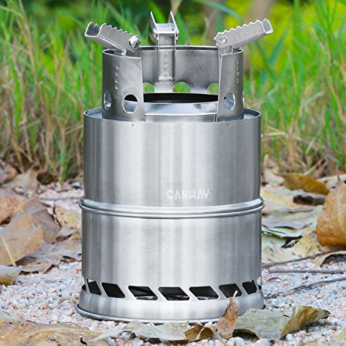 CANWAY Wood Burning Stove Stainless Steel Portable Camping ...