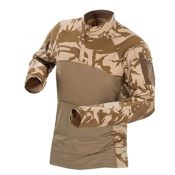 Cebbay Liquidación Chaqueta Hombre Ropa táctica Lucha de Camuflaje del ejército de Airsoft Masculino Camisa táctica Uniforme Militar Tiro de Caza: ...
