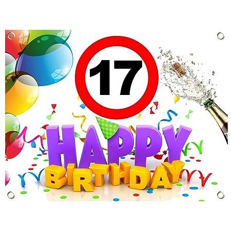 17. Cumpleaños Cumpleaños Banner Cumpleaños lona PVC 1,30 ...