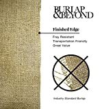 Craft Burlap Ribbon No Fray Edges 6 Inches by 50 Yards Wreath Ribbon