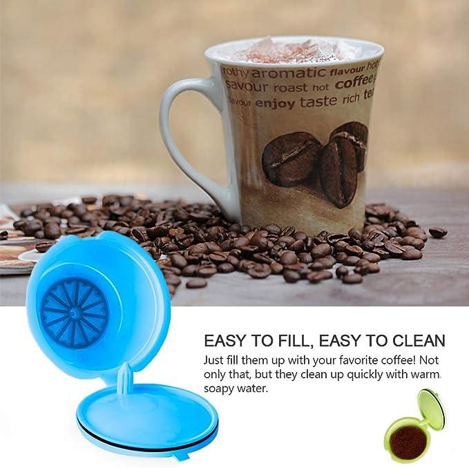 LTXDJ C/ápsulas de Caf/é Reutilizables Vistoso Filtros C/ápsulas de Caf/é Apto para Cafetera Dolce Gusto,3 Piezas de Tazas