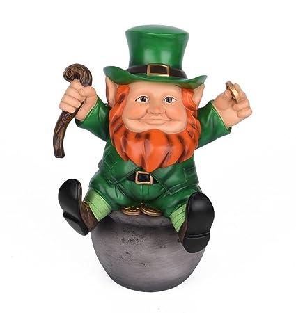 amazon com sleken leprechaun figurine decorative figure for st
