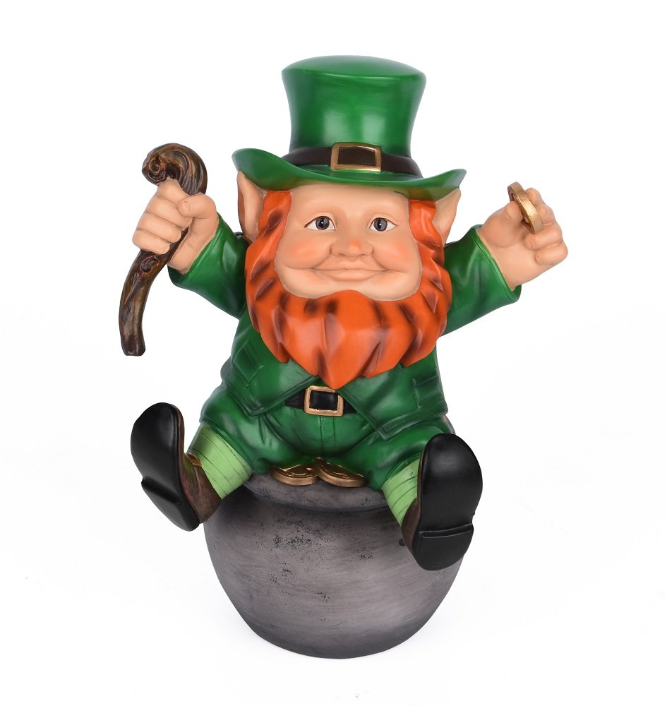 Sleken Leprechaun Figurine - Decorative Figure for St. Patrick's Day or Everyday (Pot of Gold) by Sleken (Image #1)