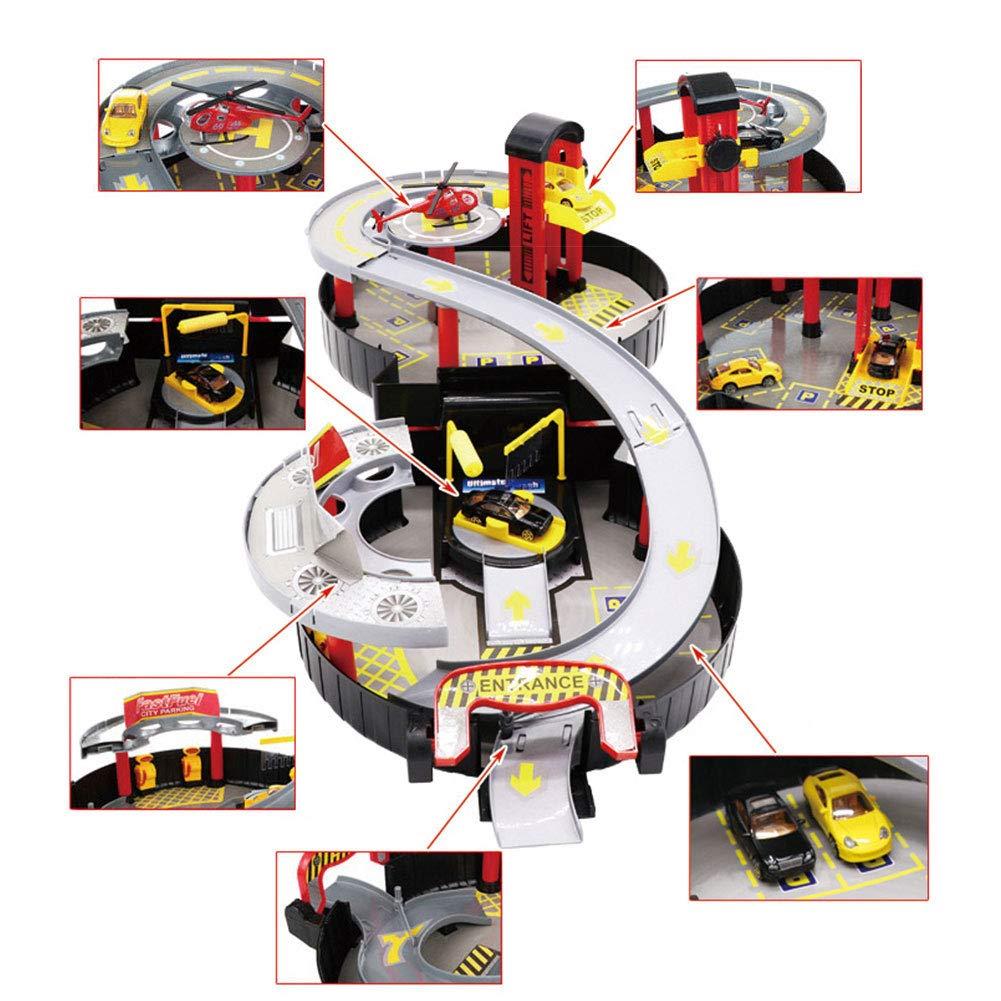 Wdxin Set Garaje Coche De Juguete Ninos Garaje Set Estacionamiento