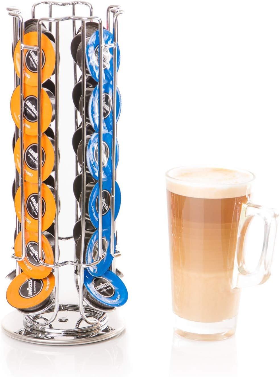 Nespresso /& Dolce Gusto Revolving Coffee Pod Holder Capsule Stand for Tassimo