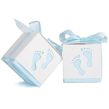 Bomboniera Matrimonio Azzurro : Yissvic 100pz scatoline portaconfetti scatole bomboniere scatole