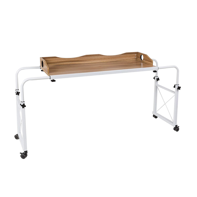 Dline - Overbed Table Laptop Cart(Light Grain 202)