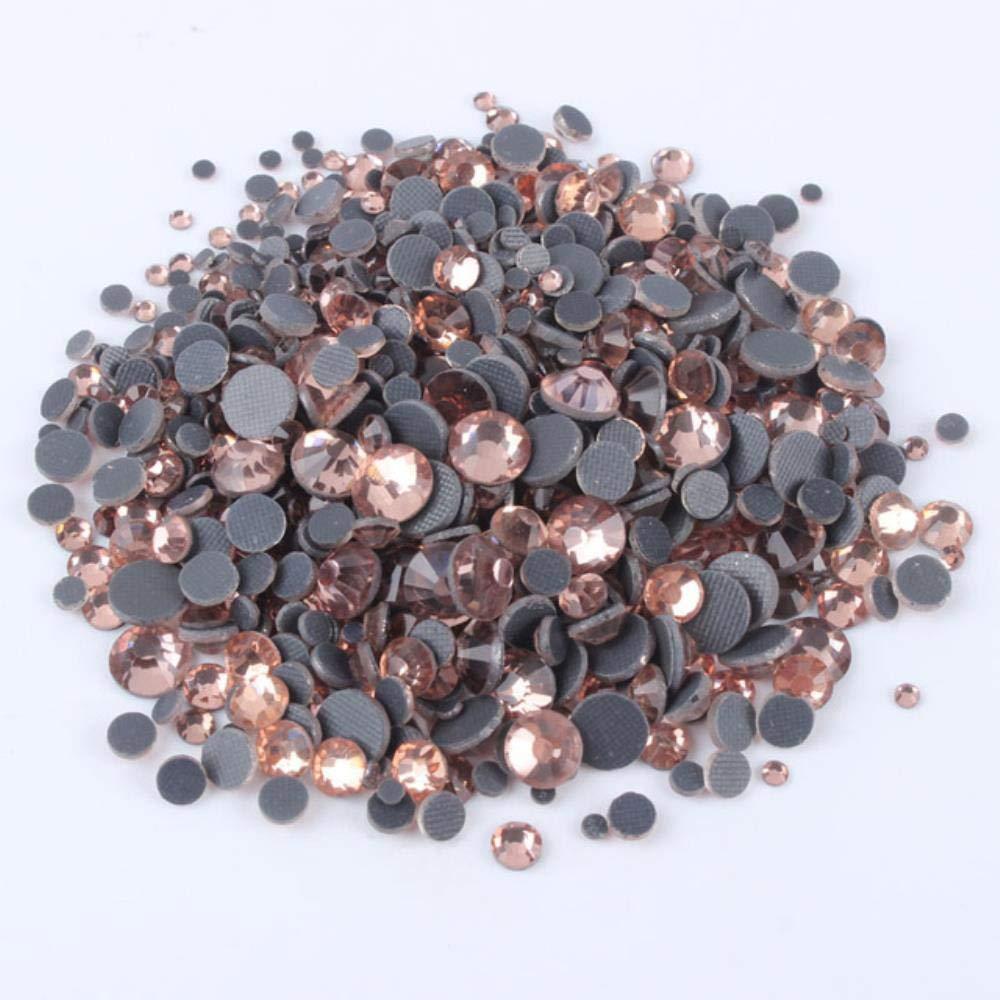 LAGEDOUDING Crystal Crystal DmC Fix Strass Iron On Stones Flatback Clear Hotfix Strass per Abito da Sposa SS6-SS30 1200PCS Ametista