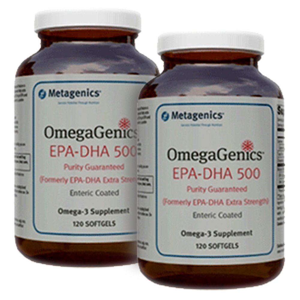 Metagenics OmegaGenics EPA-DHA 500 120 Enteric Coated Softgels - TwinPak