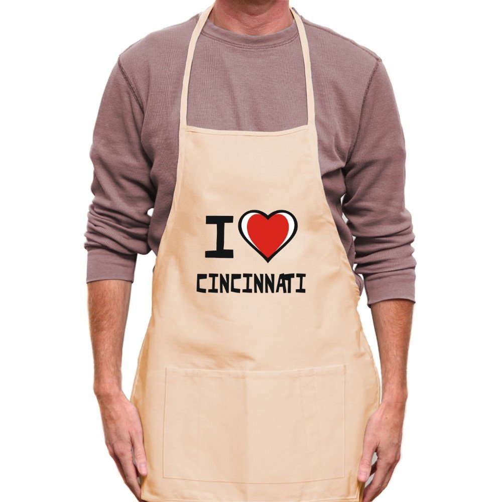 Teeburon I love Cincinnati Apron