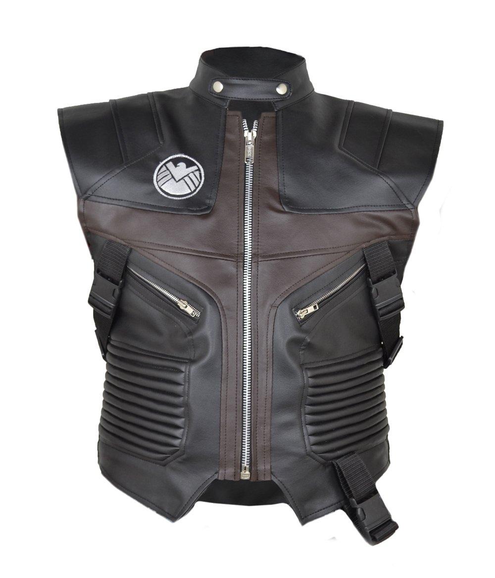 MSHC Men's Avenger Jeremy Hawkeye Faux Leather Vest XS Black & Brown