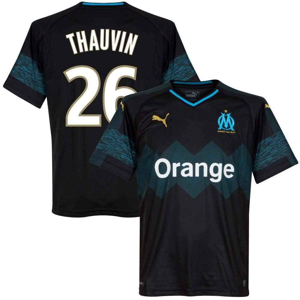 Olympique Marseille Away Trikot 2018 2019 + Thauvin 26 (Fan Style)