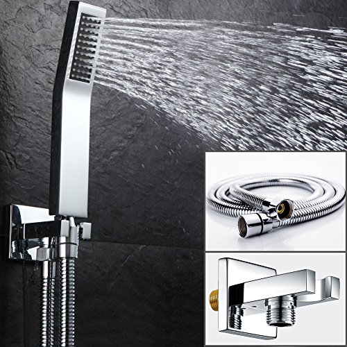 SR SUN RISE Bathroom Luxury Rain Mixer Shower Tub Spout Combo Set Wall Mounted Rainfall Shower Head System Polished by SR SUN RISE (Image #2)
