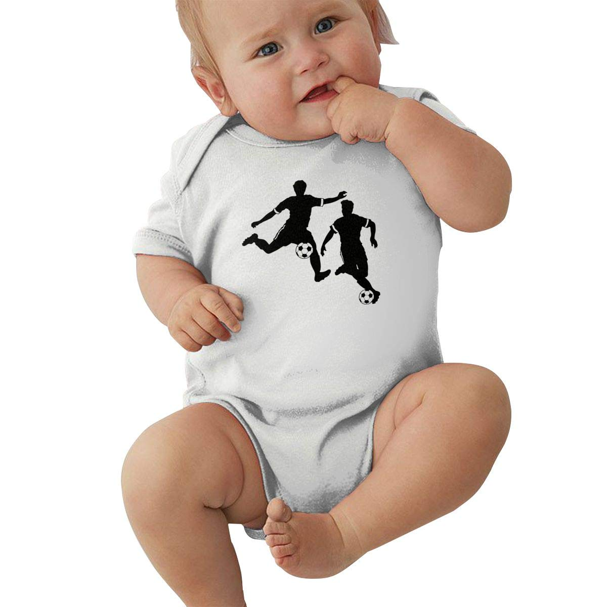Toddler Baby Girl Boy Boy Soccer Silhouettes Outfits Romper Jumpsuit Short Sleeve Bodysuit Tops Clothes