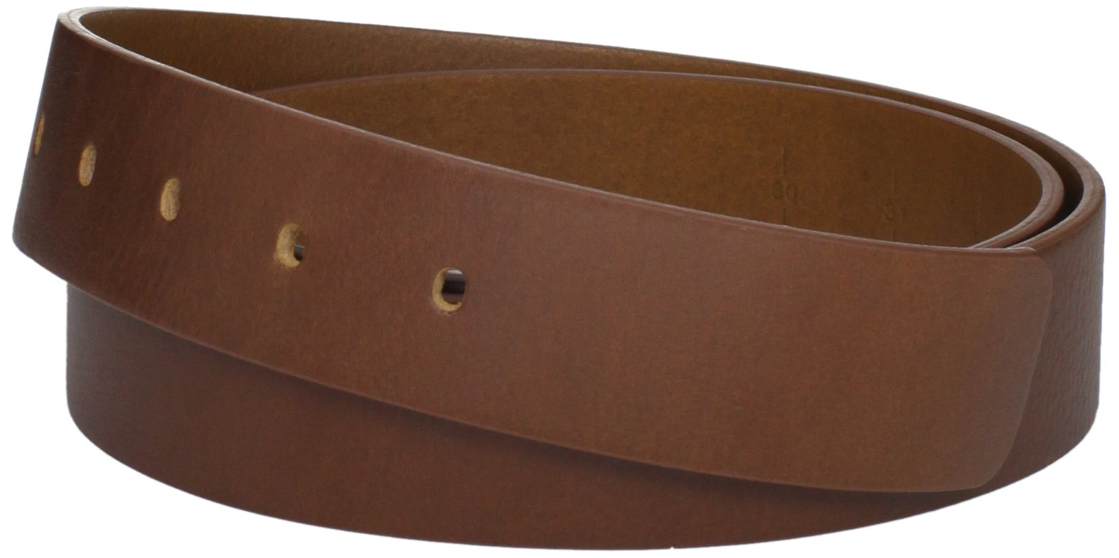 The White Ball Men's Genuine Italian Leather 40mm Strap only for Pride Buckle, Tan