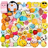 WATINC Random 40 Pcs Squishies Cream Scented Slow Rising Kawaii Simulation Lovely Toy Jumbo Medium Mini Soft Squishies, Phone Straps (WT-Squishy 40 Pcs)