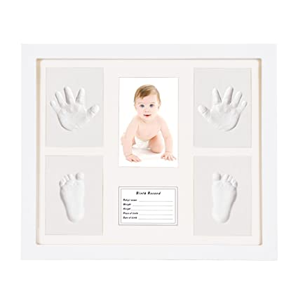 Marcos de Fotos Huella de Manos y Pies de Bebé Niño Niña Sets de ...