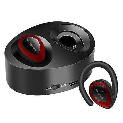 GlobalCrown Auriculares inalámbricos Bluetooth inalámbricos, TWS K2 mini gemelos estéreo Bluetooth auriculares inalámbricos invisibles con