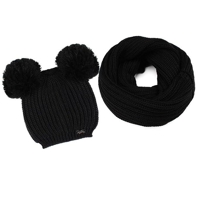 a37f1334c9c970 Amazon.com: FURTALK Kids Winter Pom Pom Hat -Warm Beanie Knit Hats Scarf  Set for Baby Boys Girls Toddler (Age 1-5 Years): Clothing