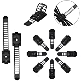50 Pcs Adjustable Cable Clips,Viaky Self Adhesive Black Wire Clips Cable Management Cable Organizer Wire Holder Clamps…