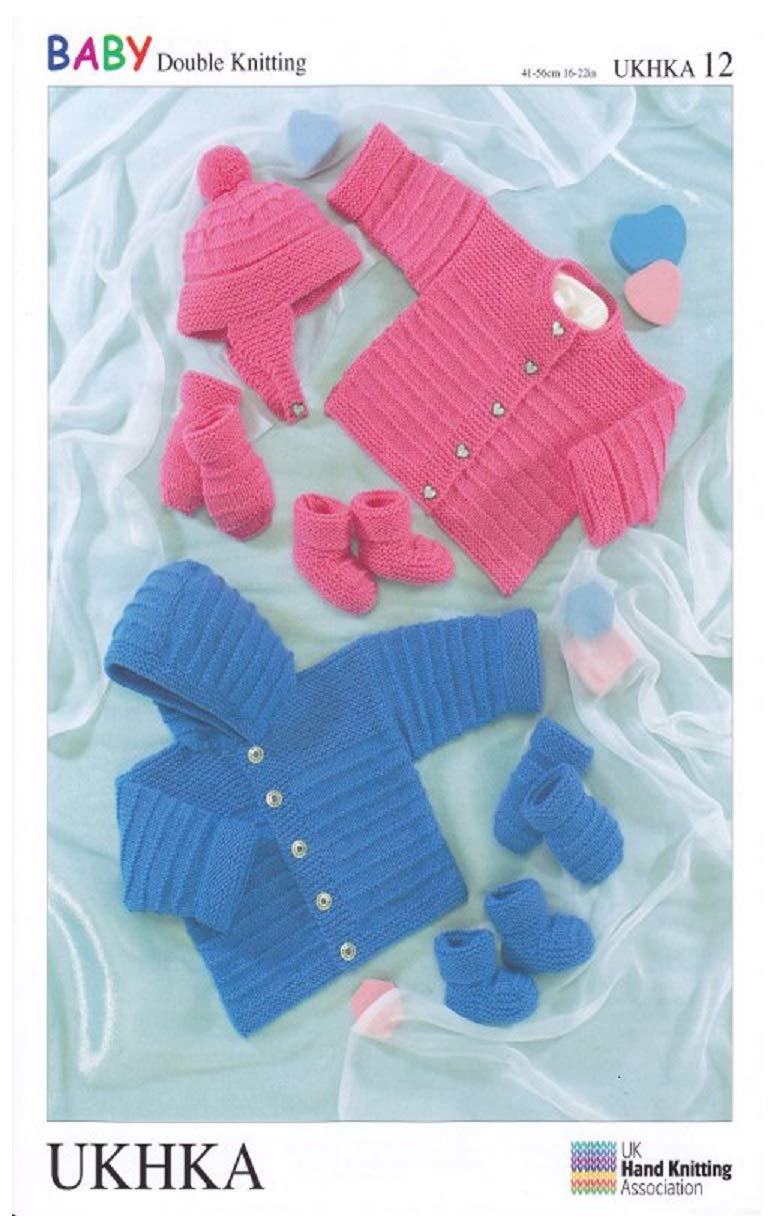 5e401e0c5 UKHKA 12 Hat Gloves Boots Hooded Jumper Cardigan Baby Double ...