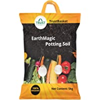 TrustBasket Enriched Premium Organic Earth Magic Potting Soil Fertilizer for Plants