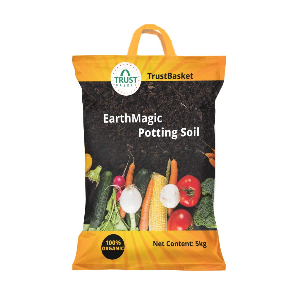 Trust Basket Enriched Organic Earth Magic Potting Soil Fertilizer for Plants, 5 Kg product image