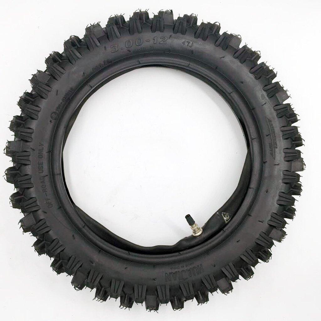 "80/100-12 3.00-12 12"" Inch Rear Knobby Tire + Inner Tube for CRF 70 PW 80 KLX 110 SSR 110TR 125CC PIT PRO Dirt Bike"