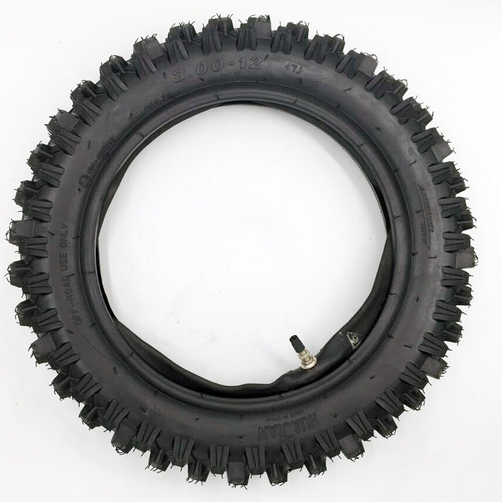 80/100-12 3.00-12 12'' Inch Rear Knobby Tire + Inner Tube for CRF 70 PW 80 KLX 110 SSR 110TR 125CC PIT PRO Dirt Bike