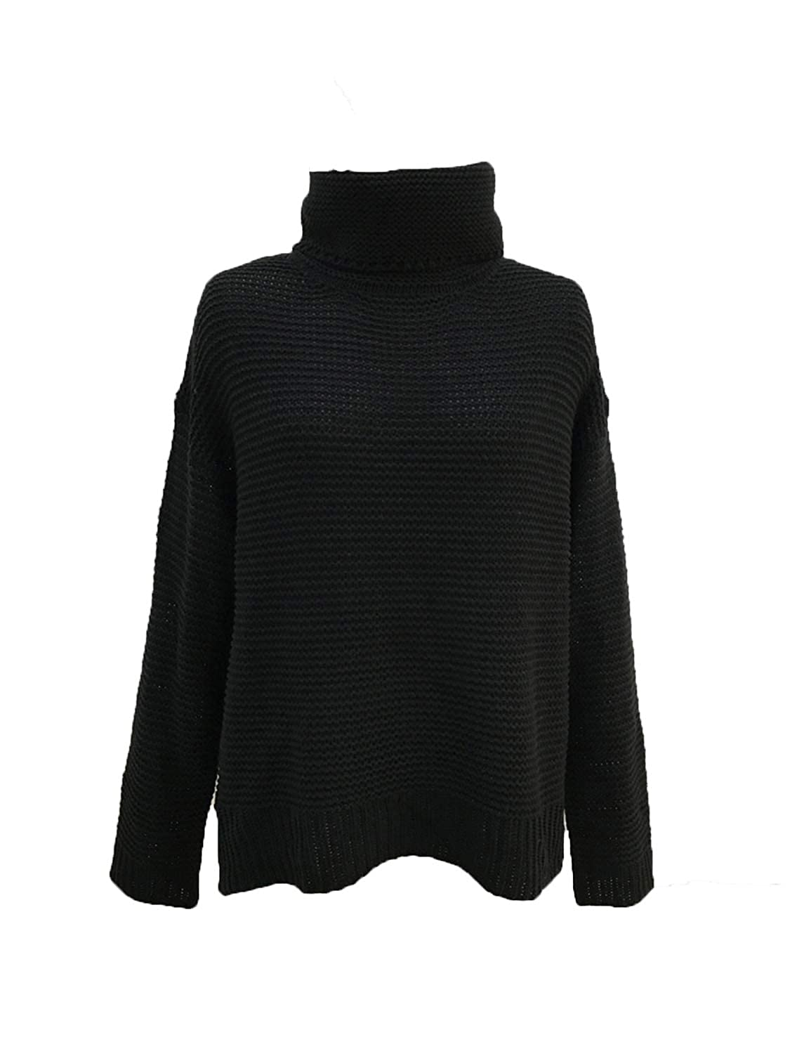 77ad881596020 Clothink Women Dark Green Plain Casual Cable Knit Oversized Pullover  Sweater at Amazon Women s Clothing store