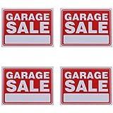 Garage Sale Sign 9 x 12 Inch - 4 Pack