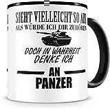 plot4u Ich denke an Panzer Tasse Kaffeetasse Teetasse Kaffeepott Kaffeebecher Becher