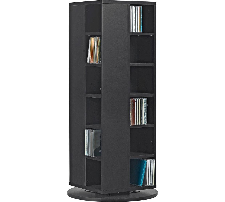 HOME Twister DVD And CD Media Storage Unit   Black