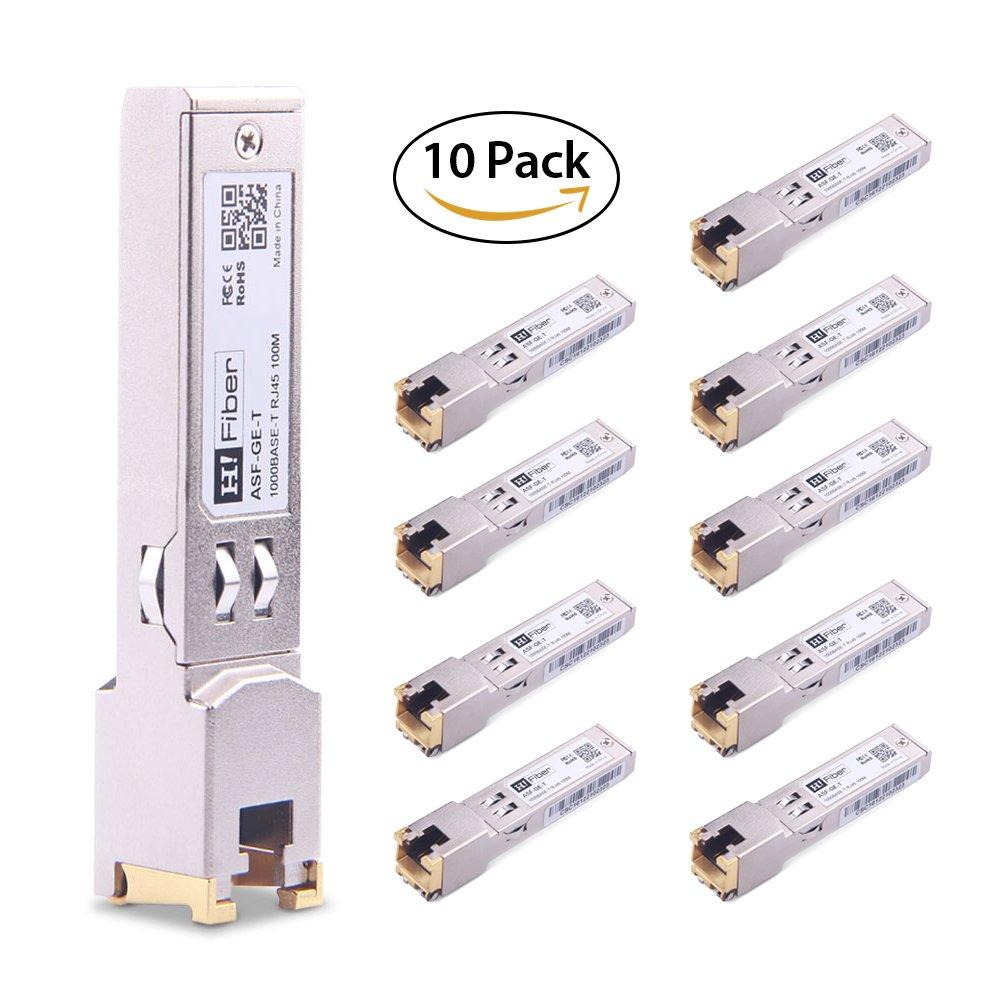 SFP Copper RJ45 Transceiver Gigabit Module 1000Base-T Compatible Cisco GLC-T/SFP-GE-T, 10 Pack
