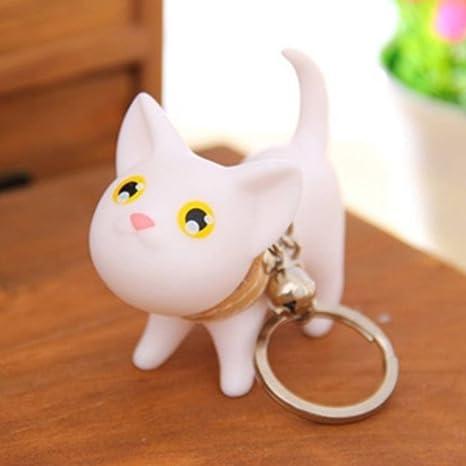 Amazon.com: 1 llavero de bolsillo pequeño con diseño de gato ...