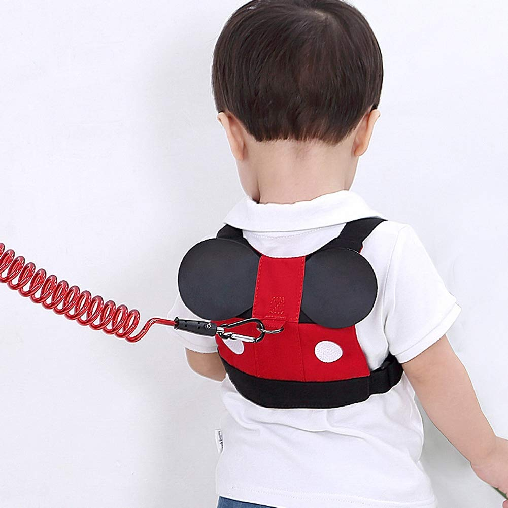 2.5 Meters Baby Child Anti-Lost with Traction Rope Child Anti-Lost Rope Dual-Use Baby All Lost Belt,Mickey,2.5m