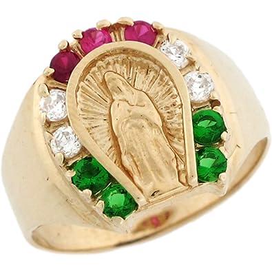 Amazon 14k Yellow Gold Virgin Mary Lady Guadalupe Horseshoe